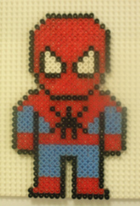 Small Spiderman Hama Bead Design