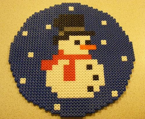 Christmas Snowman Hama Bead Pattern