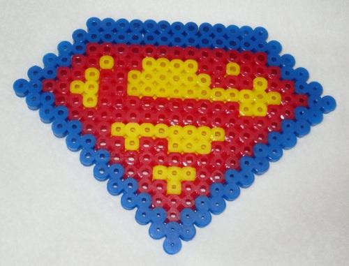Superman Hama Bead Pattern