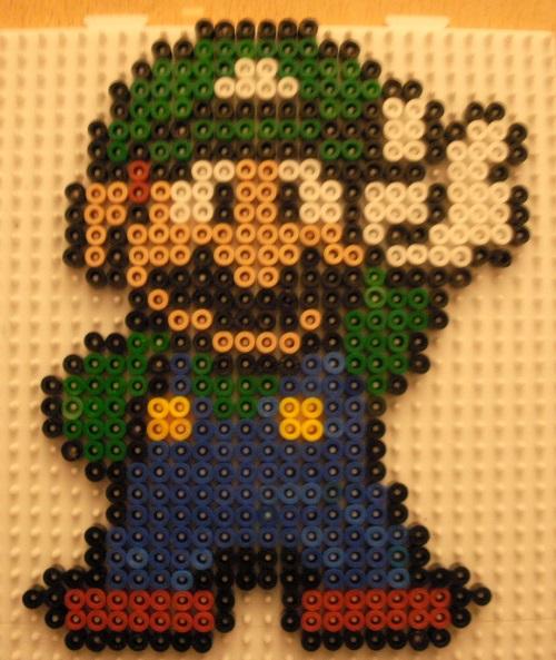 Luigi Hama Bead Pattern
