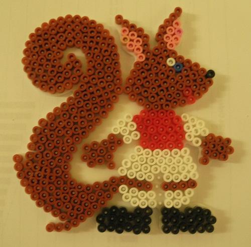 Squirrel Hama Bead Template