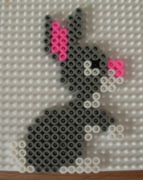 Cute Bunny Rabbit Hama Bead Pattern