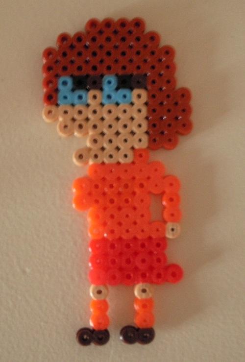 Velma Dinkley - Scooby Doo Hama Bead Pattern