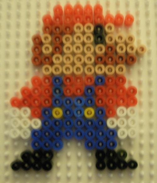 Retro Mario Hama Bead Pattern