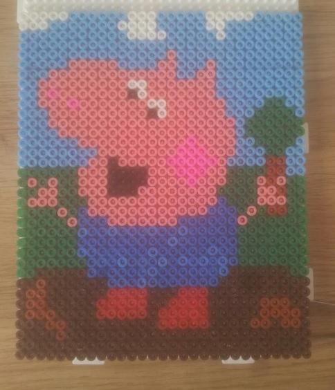 George Pig Hama Bead Pattern