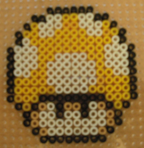 Yellow Mushroom Hama Bead Pattern
