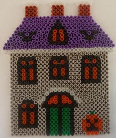 Halloween House Hama Bead Pattern