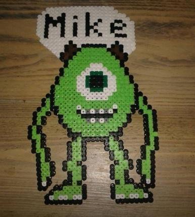 Monsters Inc Mike Hama Bead Pattern
