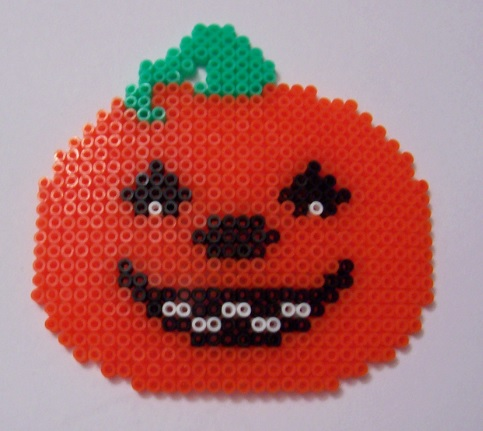 Simple Pumpkin Hamabead Pattern