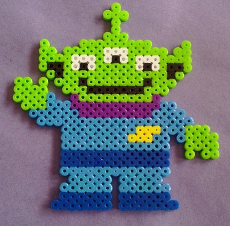 Toy Story Alien Hama Bead Pattern