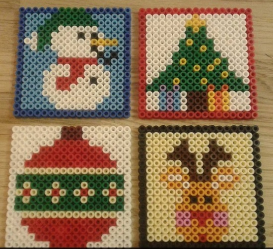 Christmas Coasters Ham Bead