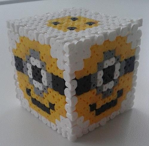 Minion Cube Hama Bead Pattern