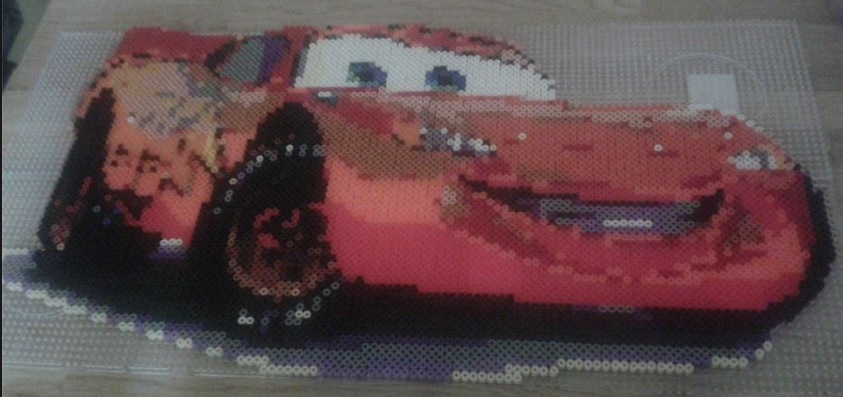 Lightning McQueen Hama Bead Pattern