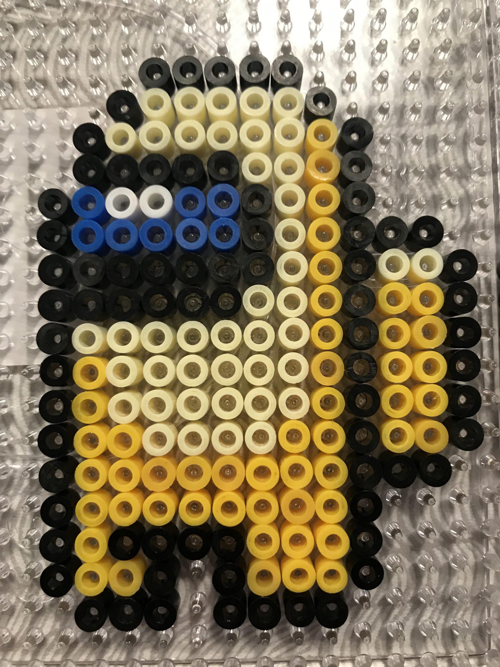 Yellow Among Us Hama Bead Pattern