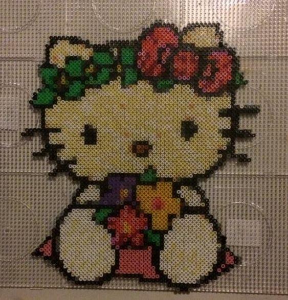 Hello Kitty Hama Bead Pattern