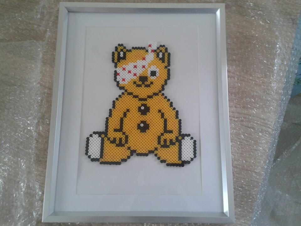 Framed Pudsey Bear