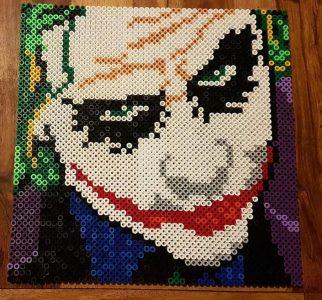 The Joker Hama Bead Pattern